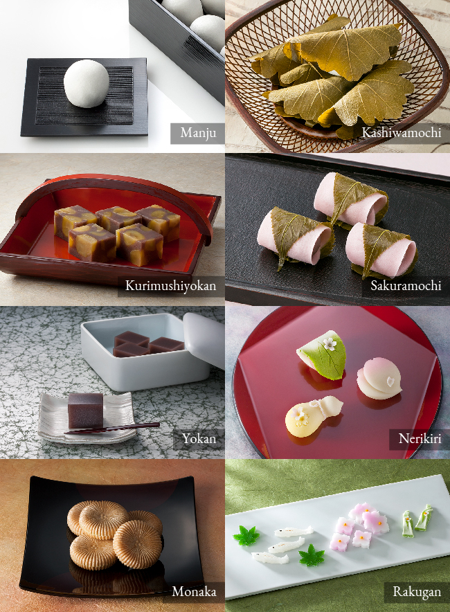 The Types of Wagashi