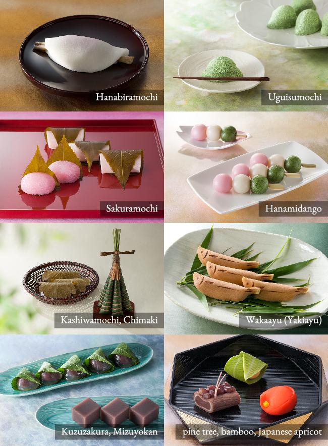 Wagashi have seasonal characteristics